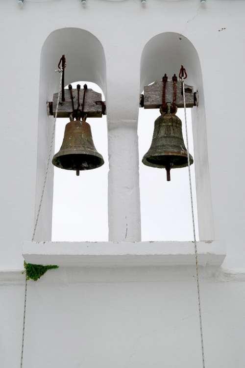 Church Bells Cross Architecture Sky Nature Simple