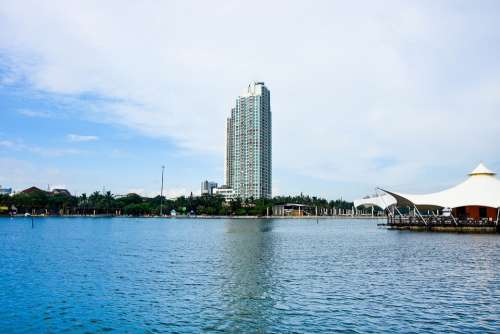 City Indonesia Blue Ancol Dufan Laut Biru Awan