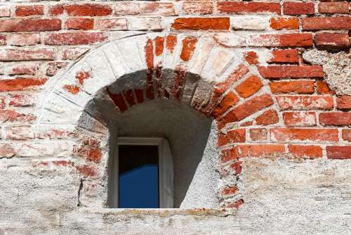 City Wall Window Wall Middle Ages Old Architecture