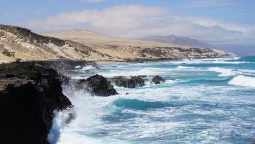 Coast Sea Ocean Rock Cliff Wave Salt Water Windy