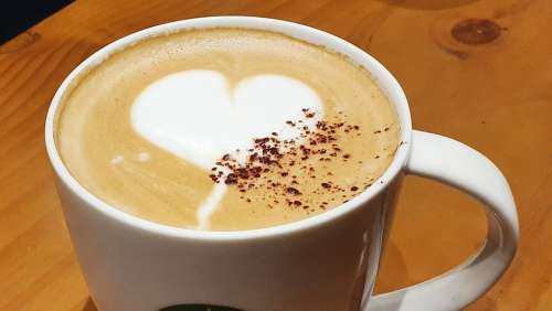 Coffee Hart Cup Love Cafe Cappuccino Foam