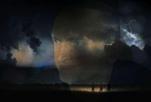 Composing Flash Thunder Mystical Sky Fantasy