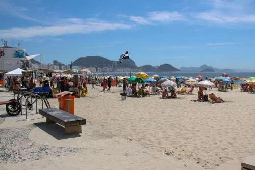 Copacabana Beach Rio De Janeiro Position 5 Sand