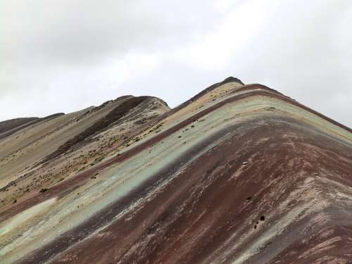Cordillera De Vilcanota Rainbow Mountains Peru
