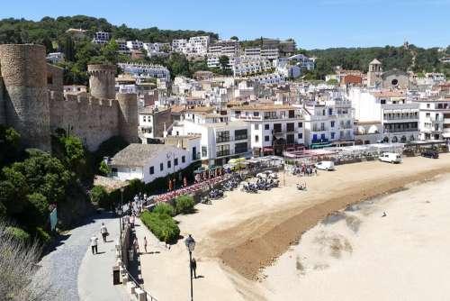 Costa Brava Spain Landscape Sea Coastal Landscape
