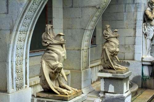 Crimea Palace Architecture Old Sculpture