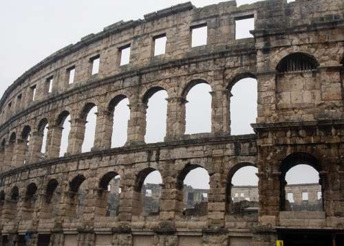 Croatia Pula Architecture Dalmatia Europe Travel