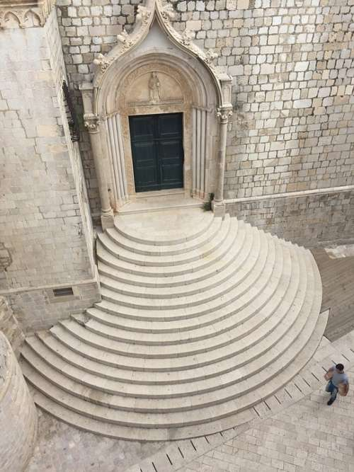 Croatia Cathedral Architecture Stone Stairs