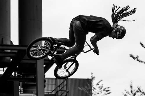 Cycling Bike Bmx Jump Man