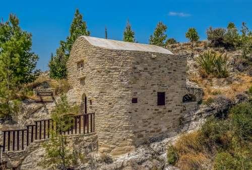 Cyprus Kelia Chapel Orthodox Stone Built Cave