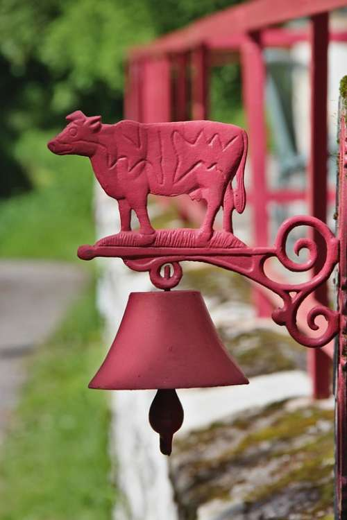 Decoration Outdoor Bell Cow Wall House