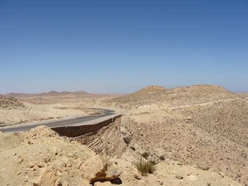 Desert Sahara Africa Desert Road Road Landscape