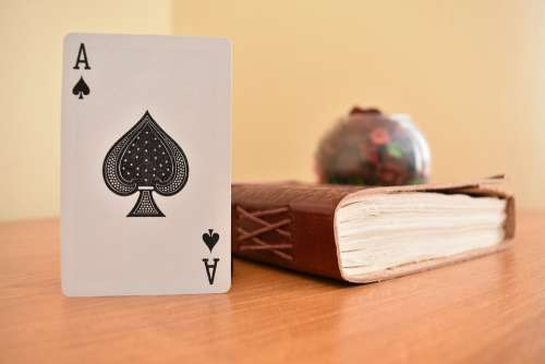 Diary Ace Card Cards Casino Game Trick Handmade