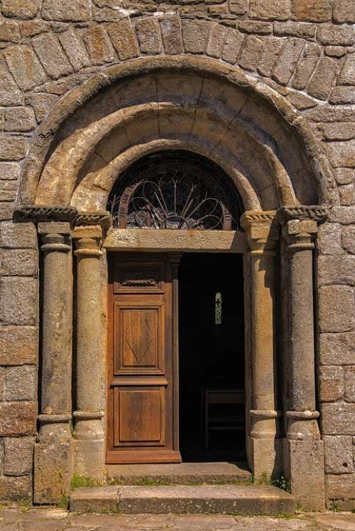 Door Church Entry Portal Ornament France Pierre