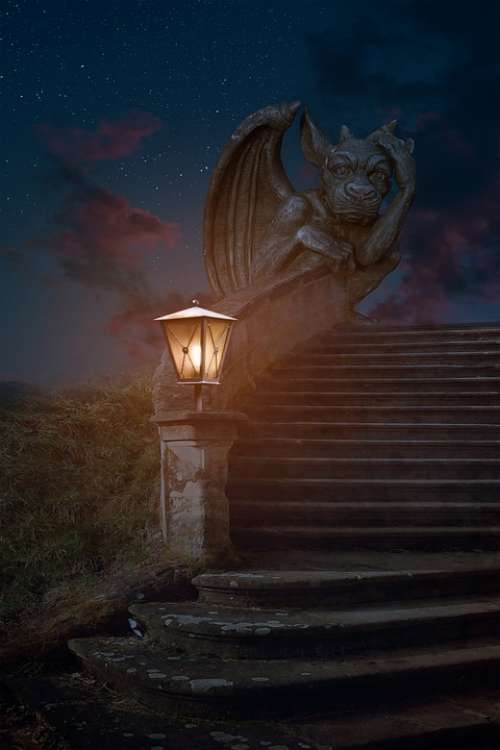 Dragon Stairs Dragon Stairs Fantasy Fairytale Old