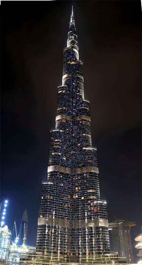 Dubai Burj Khalifa Architecture Modern Emirates