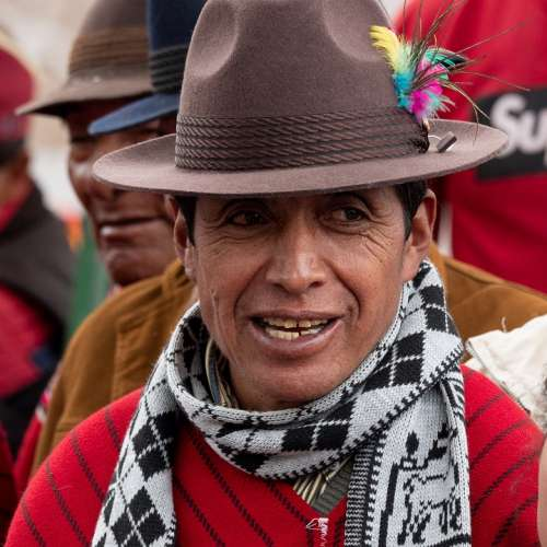 Ecuador Indio Joy Observer Hat Portrait Color