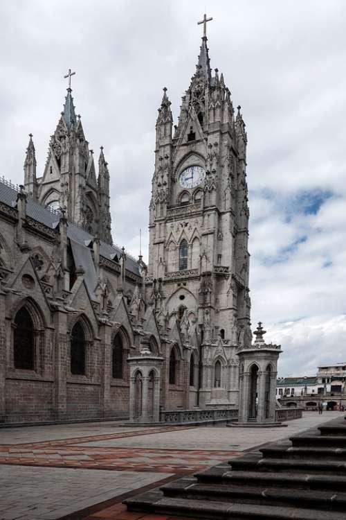Ecuador Quito Basilica Architecture Kirch Chapel