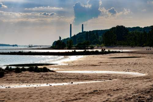 Elbe Elbe Beach Hamburg Water River Hanseatic City