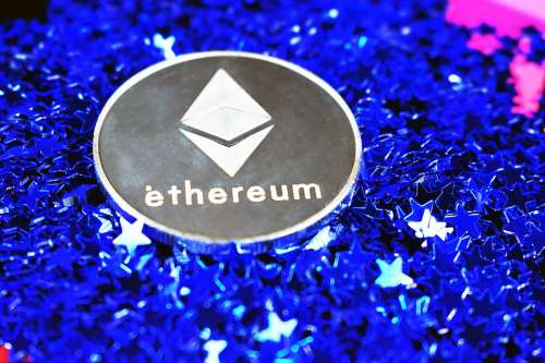 Ethereum Coin Silver Stars Ether Ether Coin Money