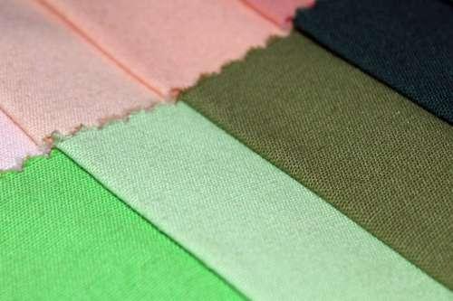 Fabric Cotton Contrast Color Shades Palette