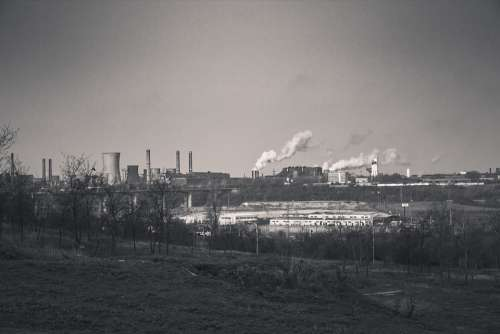 Factory Smoke Pollution Industry Environment
