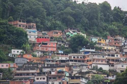 Favela Rio De Janeiro Brazilwood Housing Pauvretė