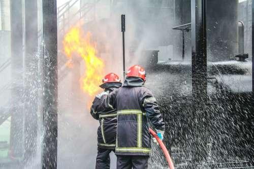 Fire Fighting Firefighters Fire Rescue Emergency