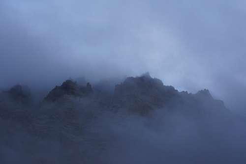 Fog Mountain Cliff