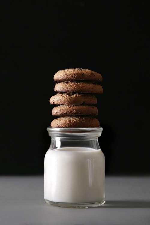 Food Tasty Sweet Breakfast Snack Milk Cookies