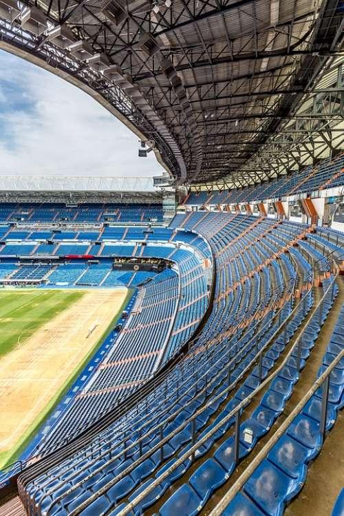 Football Stadium Stadium Stands Seats Empty