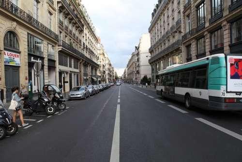 France Paris Street View Of Classical Buildings