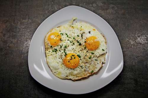 Fried Eggs Egg Egg Yolk Yolk Protein Fried
