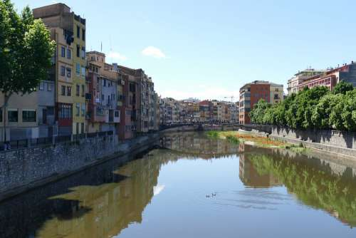 Girona Spain City River Catalonia Historic Center