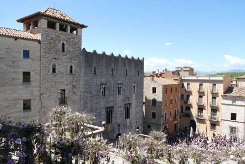 Girona Spain City Space Catalonia Historic Center