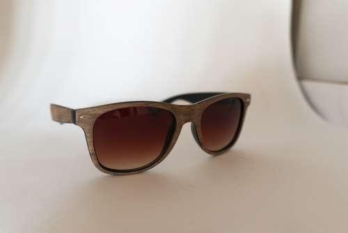 Glasses Softbox White Brown Fashion