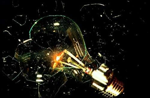 Glühbirne Explosion Analog Lamp
