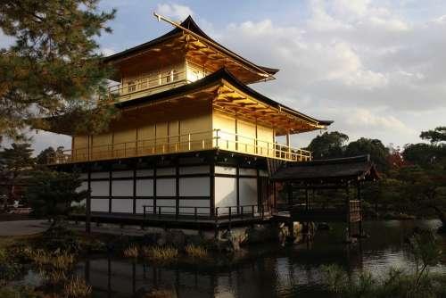 Golden Pavilion Temple Autumn Kyoto