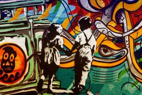 Graffiti Graffiti Wall Art Colorful Mural