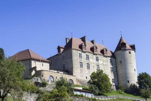 Gruyère Greyerz Castle Medieval Switzerland Burg