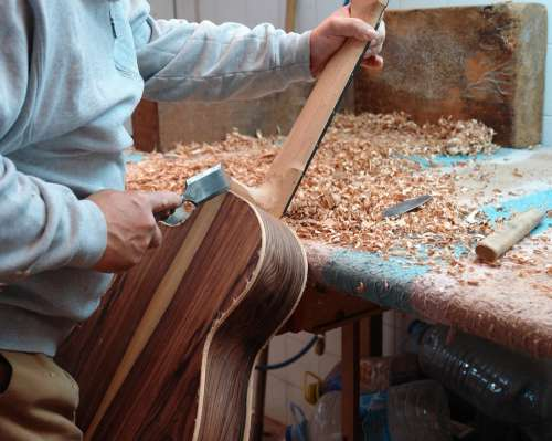 Guitar Luthier Wood Classic Instrument Artisan