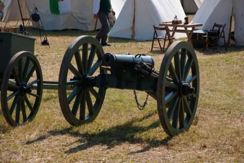 Gun Muzzleloader Mount Artillery Tent Field Camp