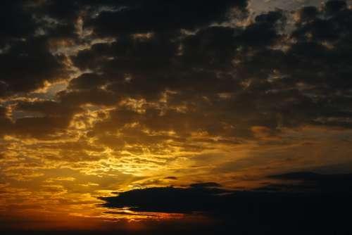Heaven Cloud Sunrise Landscape Storm Light