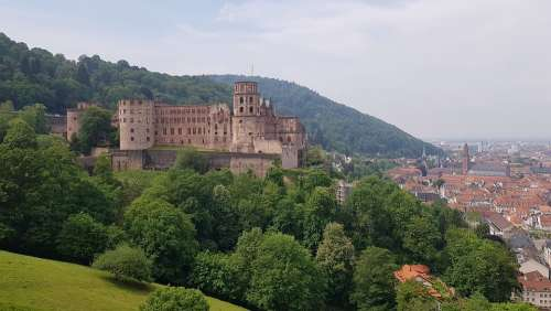 Heidelberg Castle Fortress Tourism City Building