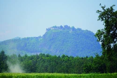Hohentwiel Mountain Hegau Volcanoes Nature Scenic