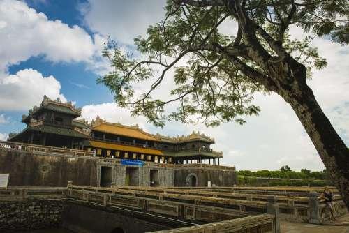 Hue Imperial Citadel Hue Royal Vietnam Asia Palace