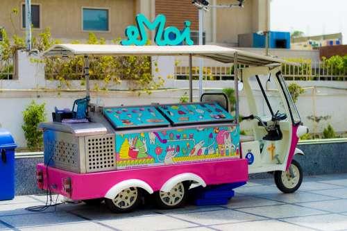 Ice Cream Parlor Vehicle Street