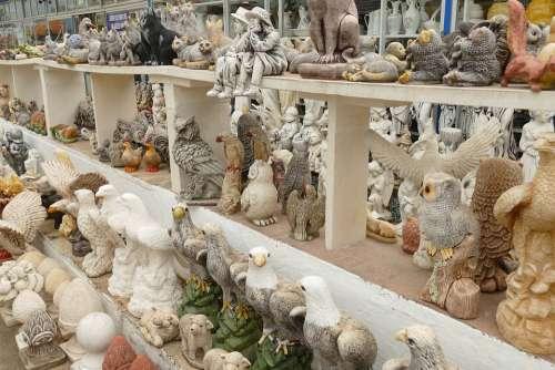 Image Statue Figure Animal Man Ceramics Kitsch