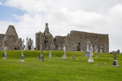 Ireland Monastery Building Architecture Ruin