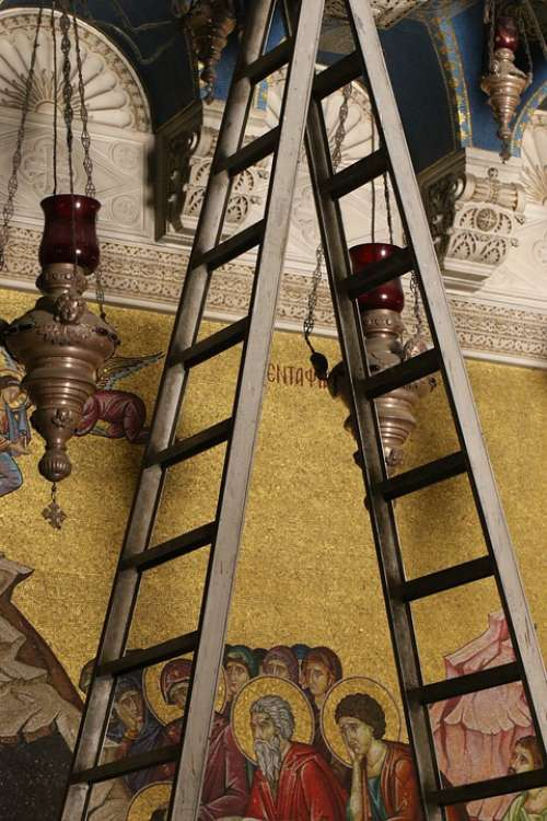 Jerusalem Church Holy Sepulcher Ladder Dispute